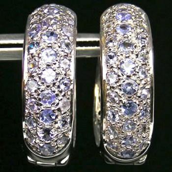 Oorbellen zilver edelstenen